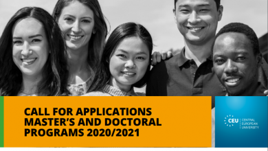 Photo of CALL FOR APPLICATIONS MASTER'S AND DOCTORAL PROGRAMS 2020/2021