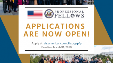 Photo of Applications for Fall 2020 Professional Fellows Program in the United States are now open!